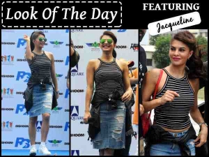 Dishoom Movie Jacqueline Fernandez In Denim Skirt