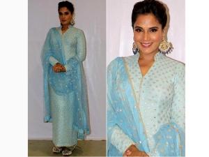 Richa Chadha Wearing Mayyur Girotra Suit For An Event