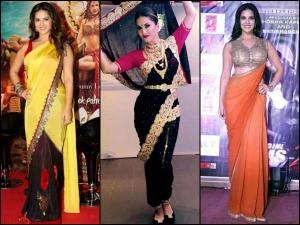 Sunny Leone In Saree 10 Beautiful Sarees Sunny Leone Has Worn