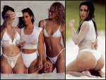 Kim Kardashian In Hot White Bathing Suit