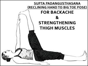 Supta Padangusthasana Reclining Hand To Big Toe Pose For Backache And