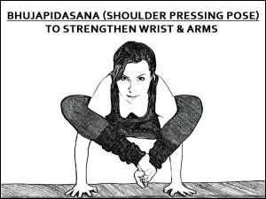 Bhujapidasana Shoulder Pressing Pose To Strengthen Wrists And Arms