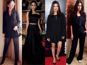 Bollywood Divas In Black Take A Good Look