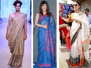 I Wear Handloom Celebrities Spotted Wearing Handloom Cotton Sarees