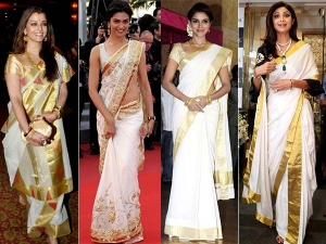 Bollywood Actresses In Kerala Sarees Take A Look