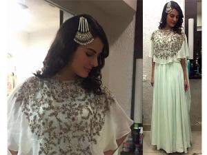 Mandana Karimi Wearing Kalki Fashion For Event In Mumbai