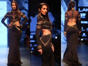 Malaika Arora Khan Walks For Shantanu Nikhil Lakme Fashion Week