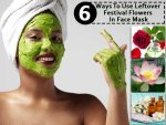 Six Ways To Use Leftover Festival Flowers In Face Mask