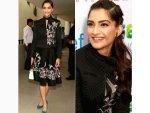 Sonam Kapoor For Unicef In Delhi Wearing Rahul Mishra