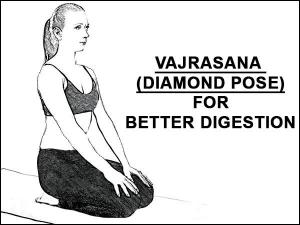 Vajrasana Diamond Pose For Better Digestion