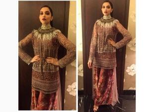 Deepika Padukone In Sabyasachi At Giant Awards In Mumbai