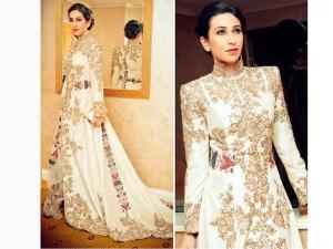 Karisma Kapoor In Sydney Wearing Anamika Khanna