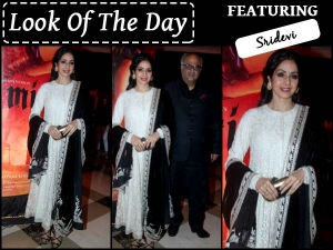Look Of The Day Sridevi In Sabyasachi For Mirzya Music Launch