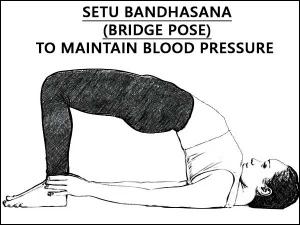 Setu Bandhasana Bridge Pose To Maintain Blood Pressure
