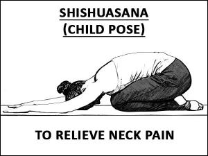 Shishuasana Child Pose To Relieve Neck Pain