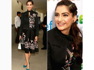 Sonam Kapoor For Unicef In Delhi Wearing Rahul Mishra