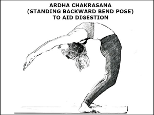 Ardha Chakrasana Standing Backward Bend Pose To Aid Digestion