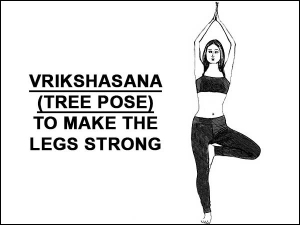 Vrikshasana Tree Pose To Make The Legs Strong