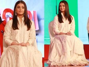 Aishwarya Rai In Rohit Bal For An Event In New Delhi