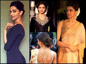 Deepika Padukone Hairbun Styles For Karva Chauth