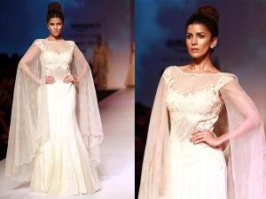 Nimrat Kaur Walks For Mandira Wirk Amazon India Fashion Week