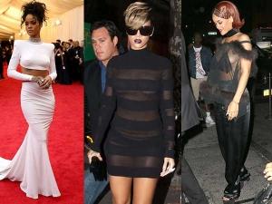 Times When Rihanna Went Bra Less