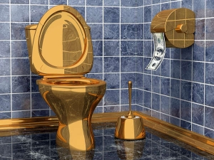 First Golden Toilet Open For Public Use