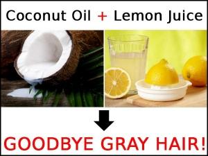 Coconut Oil And Lemon Juice Goodbye Gray Hair