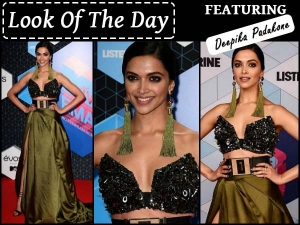 Look Of The Day Deepika Padukone At Mtv Europe Music Awards