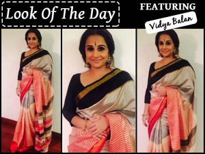 Look Of The Day Vidya Balan Wearing Enoya Saree