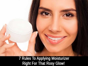 Seven Rules To Applying Moisturizer Right For That Rosy Glow