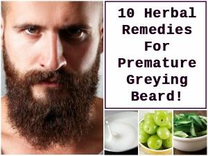 Ten Herbal Remedies For Premature Greying Beard