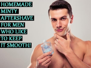 Homemade Minty Aftershave For Men Who Like To Keep It Smooth