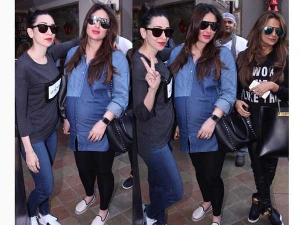 Mommy To Be Kareena Kapoor Snapped In Bandra In Denims