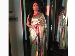 Shriya Saran Wearing Vrksilks Saree For An Event