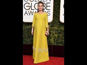 Natalie Portman In Prada Golden Globes Red Carpet