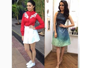 Shraddha Kapoor Wearing Dress By Hemant And Nandita For Ok Jaanu Promotions