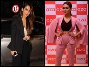 Malaika Arora Sana Khan Pantsuit Fashion Face Off