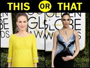 Natalie Portman Gal Gadot Golden Globes 2017 Maternity Lookbooks