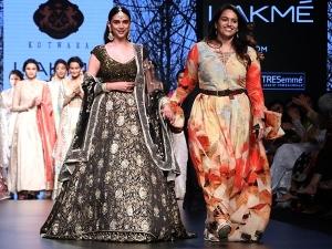 Aditi Rao Hydari Walks For Kotwara Lakme Fashion Week Summer Resort
