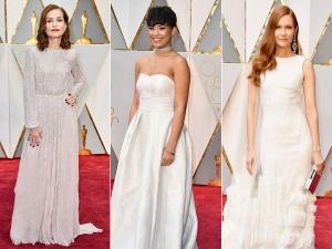 White Dresses At Oscars Red Carpet