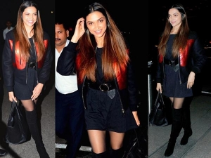 Deepika Padukone Wearing Givenchy Jacket Airport Lookbook