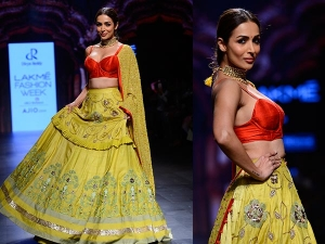 Malaika Arora Khan Walks For Divya Reddy Lakme Fashion Week Summer Resort