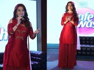 Juhi Chawla Wearing Kalki Fashion For An Event