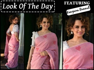 Look Of The Day Kangana Ranaut Wearing Galang Gabaan At Saree