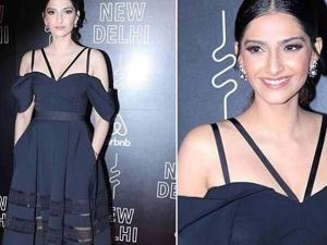 Sonam Kapoor Wearing Self Portrait Dress