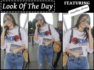Look Of The Day Anushka Sharma Wearing Casual Clothes