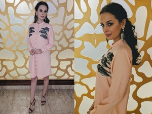 Evelyn Sharma Wearing Shahin Mannan