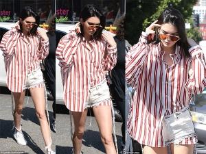 Kendall Jenner Wearing Hot Pants Street Style