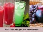 Nine Best Juice Recipes For Ram Navami